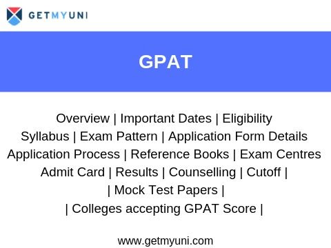 GPAT 2020 - Application Form, Dates, Eligibility, Pattern