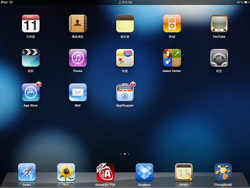 iPad 螢幕畫面