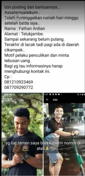 Polisi Berhasil Bekuk Pelaku Penculikan & Pembunuhan Mahasiswa Asal Karawang