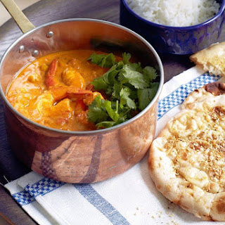 Indian Prawn And Chickpea Curry With Curry-salt Naan.