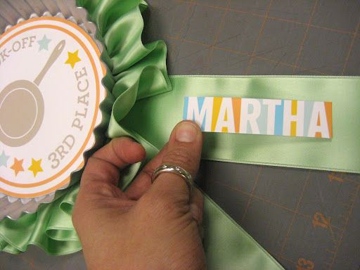 The finishing touch was adding the Martha TV logo to each ribbon