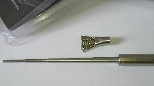 DSC 2466 thumb%25255B2%25255D - 【小物/ビルド】「Coilmaster Vape Brush(コイルマスター ブラシ付きコイルジグ)」レビュー。ドライバーン時のガンク除去+コイルジグの便利優れものビルド小道具!