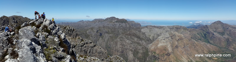 Cathedral (Second Ridge Peak) - panorama to the south and south-west