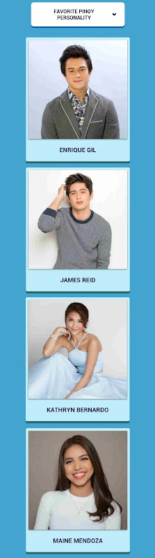 KCAs - Favorite Pinoy Personality nominees - Enrique, James, Kathryn, Maine