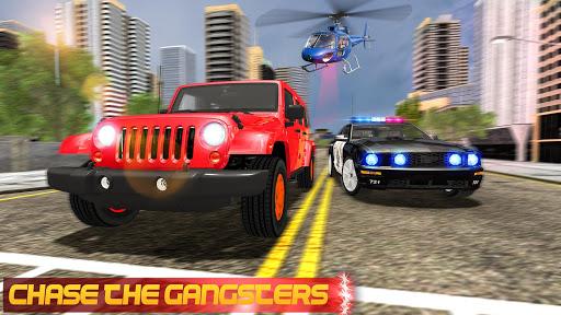 مطاردة سيارة العصابات للشرطة الحقيقية: لقطات شاشة لمحاكاة القيادة 9