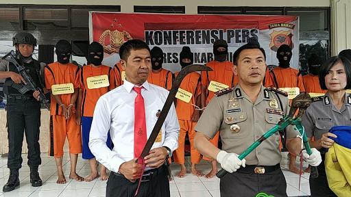 Kepolisian Resor Kota Sukabumi Tangkap 9 Pelaku Ranmor, 1 Dilumpuhkan Akibat Melawan Petugas