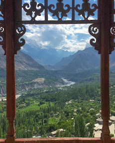 "View of Hunza valley from ""Baltit fort"""