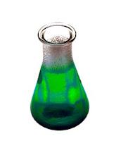 Photo: Erlenmeyer flask glowing liquid idea.
