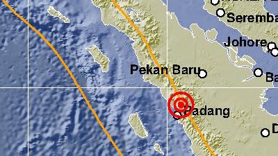 Dipicu Aktivitas Segmen Sumani, Gempa M 4,0 Terjadi di Padang Panjang