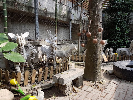Animals made from carton in Carton King Taichung