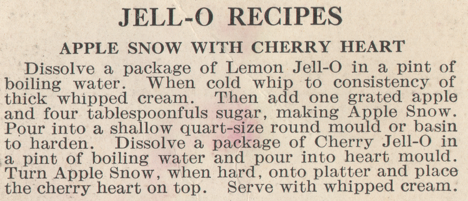 Jell-O Apple Snow Recipe