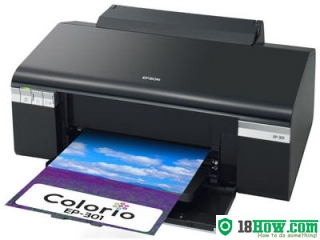 How to reset flashing lights for Epson EP-301A printer