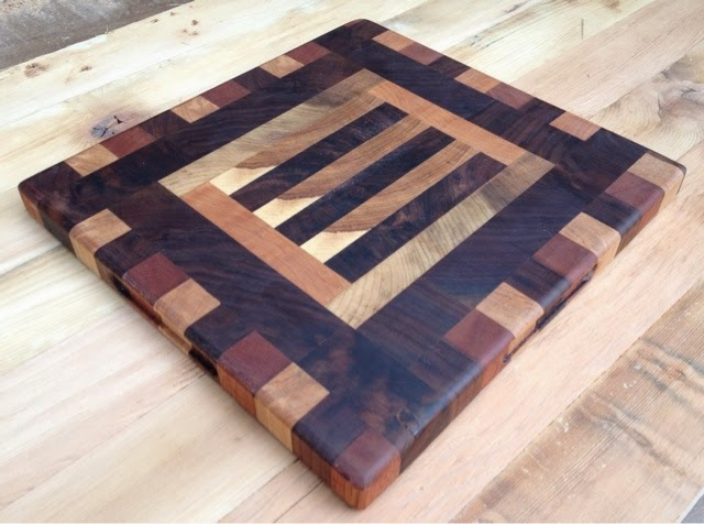 Driftedge Woodworking Patterned End Grain Cutting Board