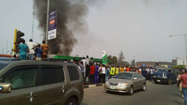 Filing Station On Fire Near Lagos Airport
