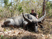 Mrs Christensen, Demark with a great old bull taken in thick bush at Carmor Plains