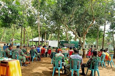 Diskusi mitigasi kebencanaan yang diadakan oleh Karang taruna Kabupaten Pacitan di Laladan Kodim 0801 Pacitan (Foto: Istimewa)