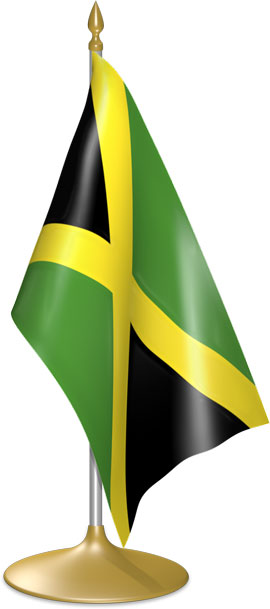 Jamaican table flags - desk flags