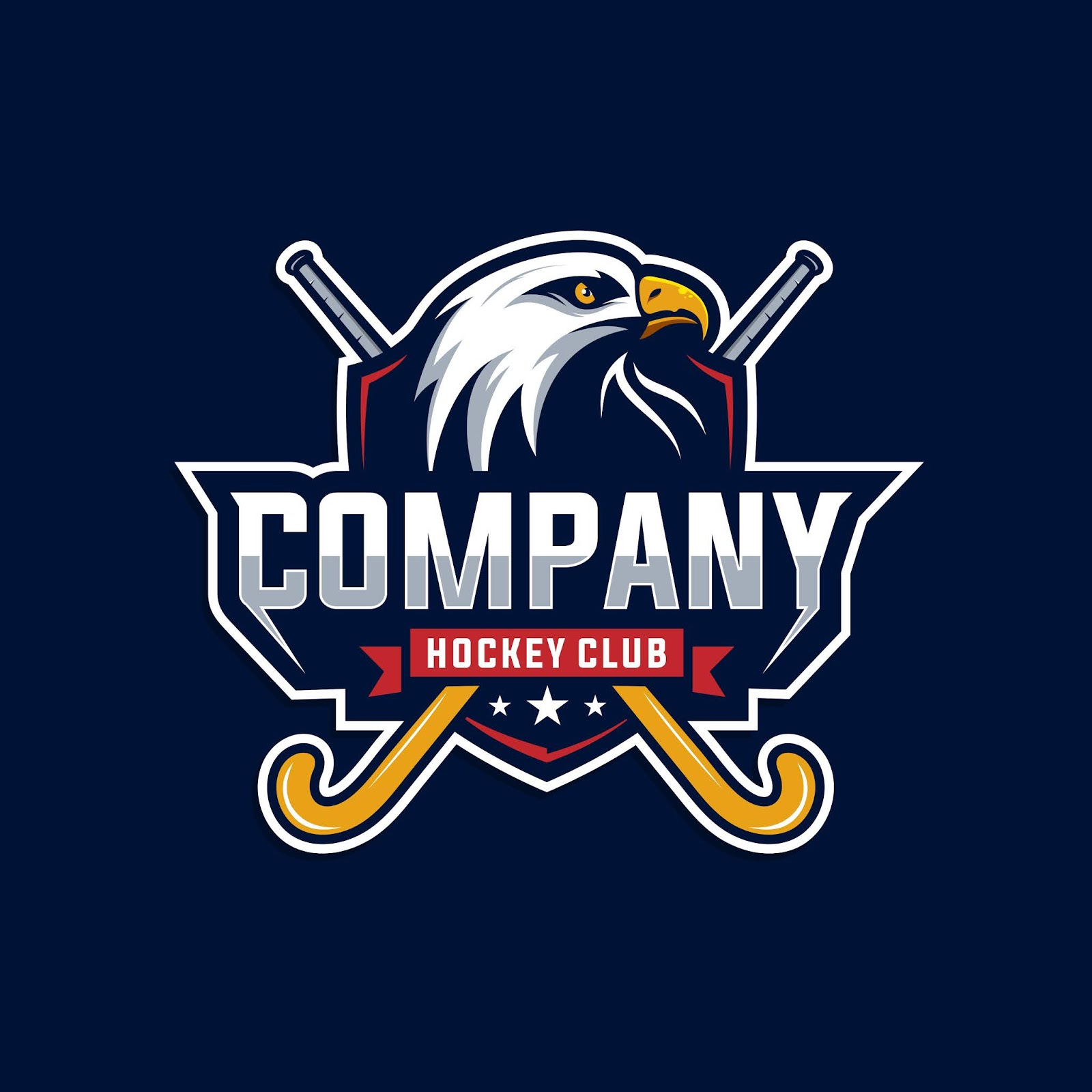 Eagle Hockey Club Logo Free Download Vector CDR, AI, EPS and PNG Formats