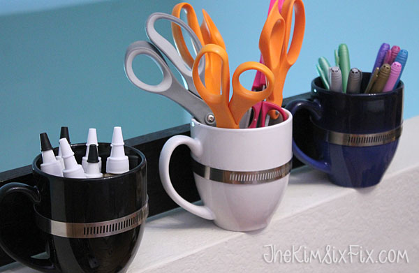 Wall organizer from coffee cups