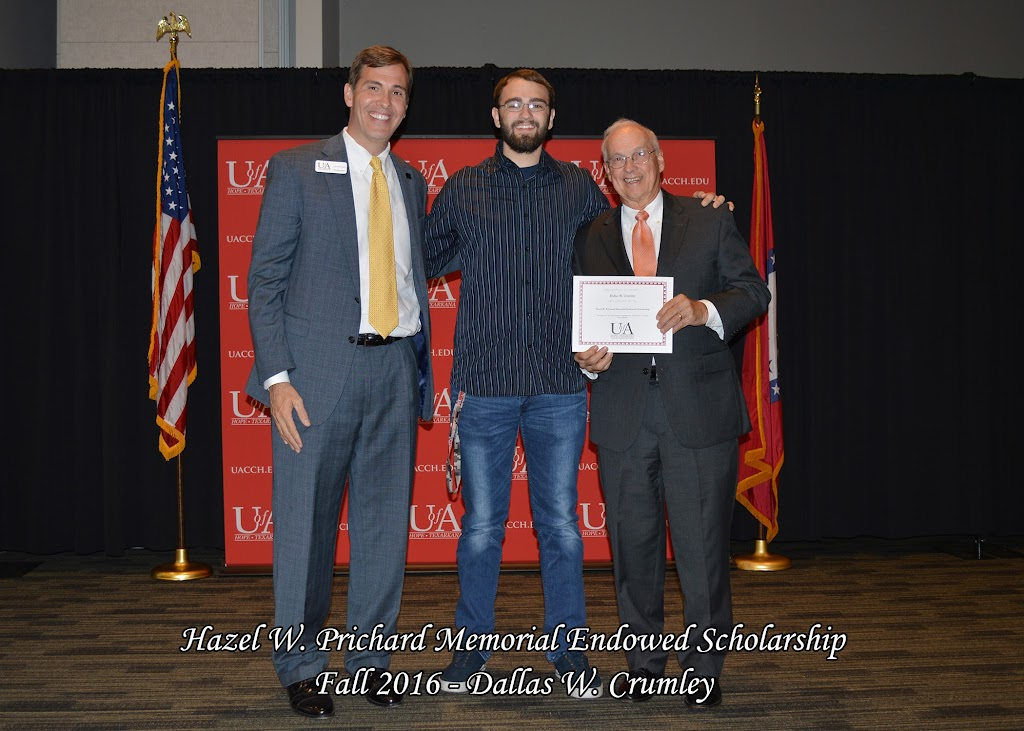 Fall 2016 Scholarship Ceremony - Hazel%2BW.%2BPrichard%2BMemorial%2BEndowed%2BScholarship%2B-%2BDallas%2BCrumley.jpg
