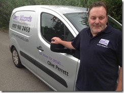 clive p with his van