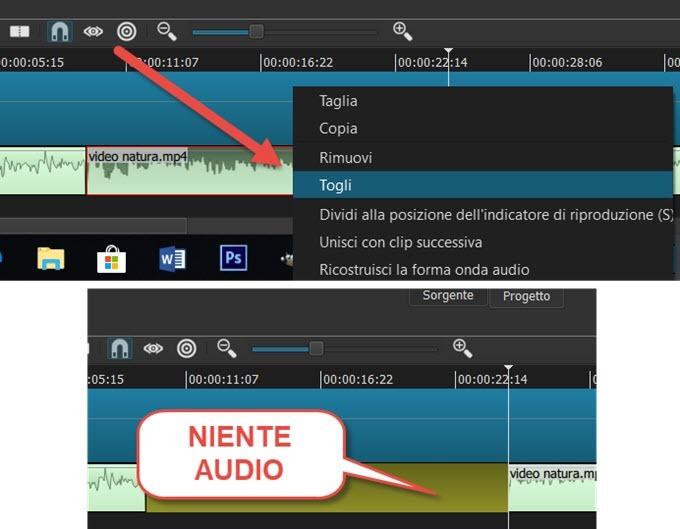 eliminare-traccia-audio