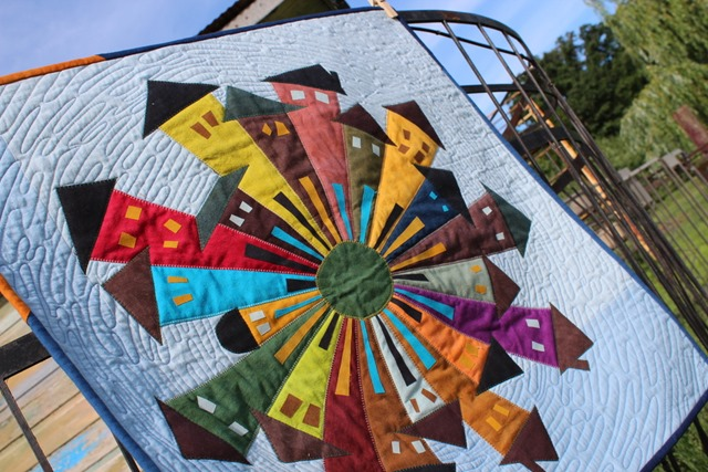 Cherrywood Dresden Neighborhood Quilt by Kim Lapacek
