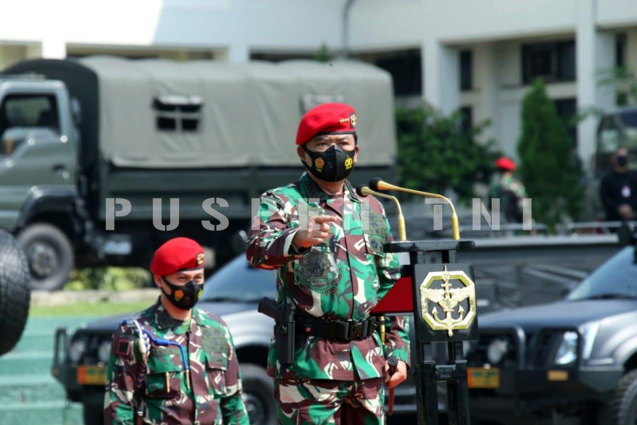 Panglima TNI Sidak Tiga Markas Komando Pasukan Khusus TNI
