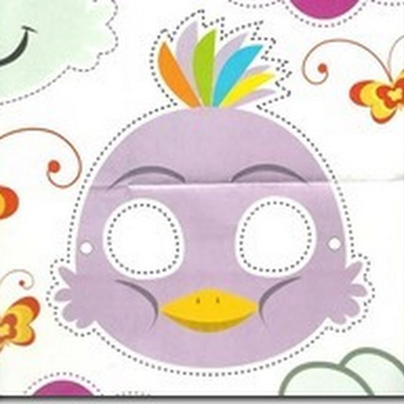 máscara pez para los niños a imprimir y recortar