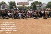 Prajurit Kostrad Batalyon Yonif Para Raider 305/Tengkorak di Lepas Bupati Karawang