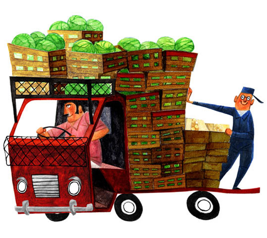 市場のトラック