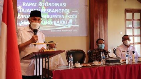 Gubernur Minta Kesbangpol Ambil Langkah Strategis Sukseskan Pemilu 2024