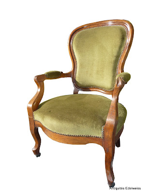 fauteuil velours vert style louis philippe ebay. Black Bedroom Furniture Sets. Home Design Ideas