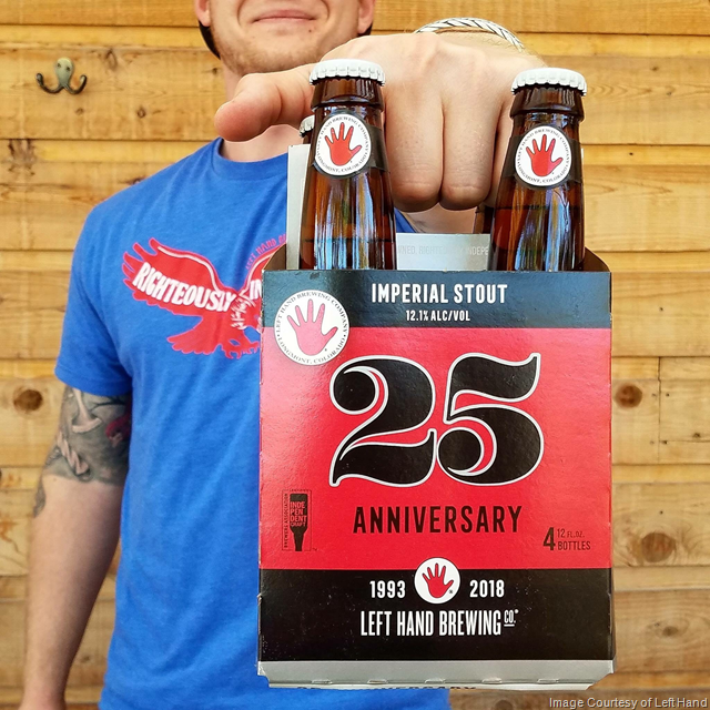 Left Hand Brewing Celebrates 25 Years with its Biggest Beer to Date