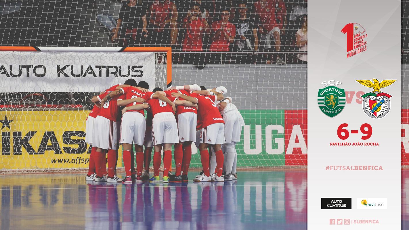 f56e818739 A equipa de futsal do Benfica venceu hoje o sporting por 6-9 no terceiro  jogo da final do campeonato nacional de Futsal