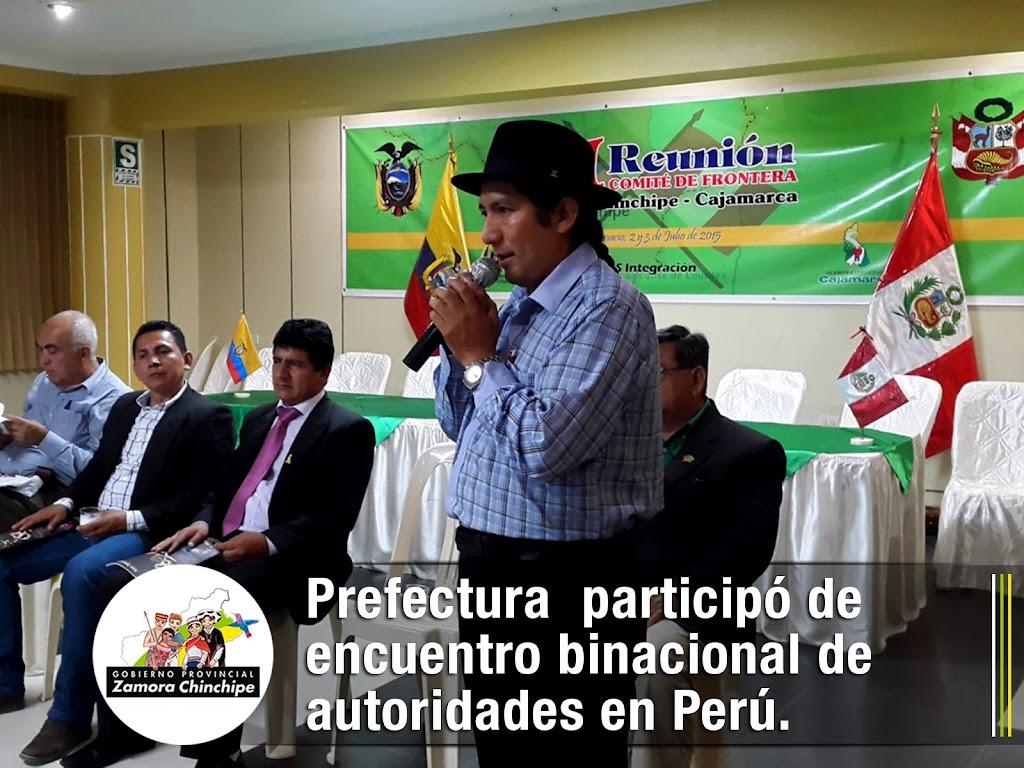 PREFECTURA ZAMORA CHINCHIPE PARTICIPÓ DE ENCUENTRO BINACIONAL DE AUTORIDADES EN PERÚ.
