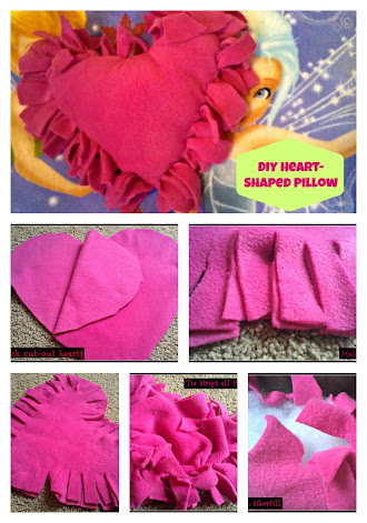 Diy Crafts Valentine S Heart Shaped Knotted Fleece Pillow