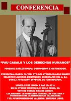 """Conferencia: """"Pau Casal y los Derechos Humanos"""""""