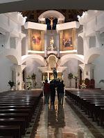 Procesión de las Antorchas con Nuestra Señora de las Divinas Misericordias. Regreso de la Virgen a la Parroquia del Santísimo Corpus Christi