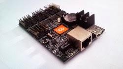 HD-E3 control card, κάρτα γραφικών γιά επιγραφές LED