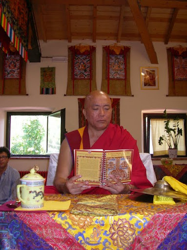 Geshe Tenzin Tenphel with new Lama Chopa Jorcho at Instituto Lama Tsong Khapa, August 2011, Italy