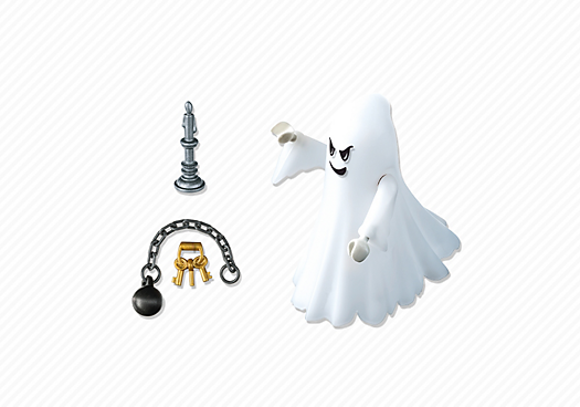 Contenido real de Playmobil® 6042 Fantasma del Castillo con Led Multicolor