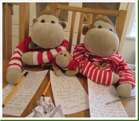 Writing our letters to Santa