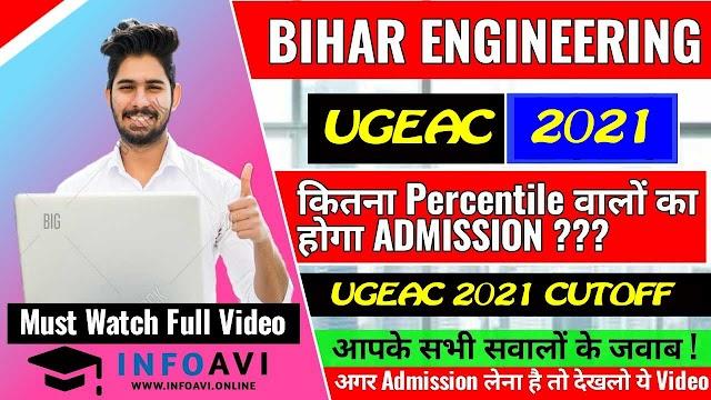 Bihar UGEAC CUTOFF 2021,  All College Branches Cutoff Check Here