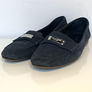 Coach Navy Suede Driving Mocs