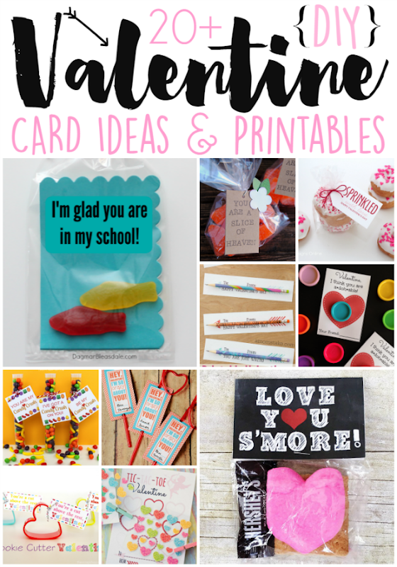 20  DIY Valentine Card Ideas & Printables at GingerSnapCrafts.com #Valentines #DIY