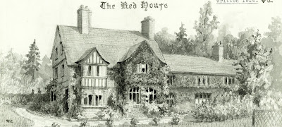 """The Red House"" from A Record of Shelford Parva by Fanny Wale P34"