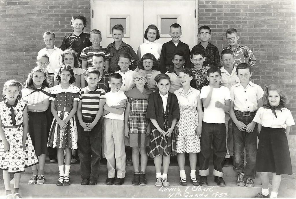 Lewis and Clark Fourth Grade with Mrs. Roppe-1953