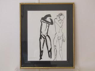 "Ann Hawley's ""2 Men"" Drawing"