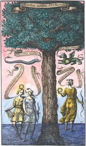 From Baro Urbigerus Aphorismi Urbigerani London 1690, Alchemical And Hermetic Emblems 1